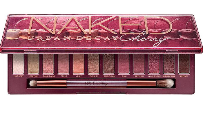 valentines day romantic eyeshadow palettes - urban decay naked cherry eyeshadow palette
