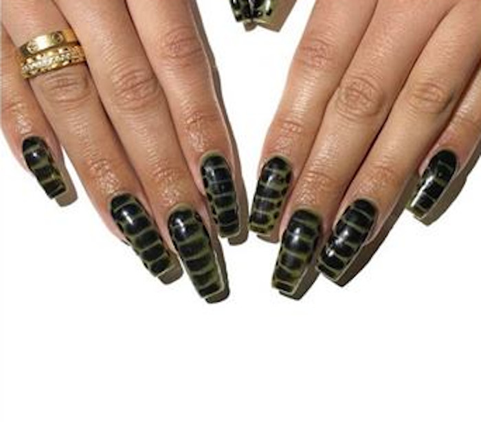 crocodile nails are instagram's next big animal print trend