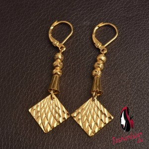 Charm Beads Earrings for Women Gold Color Arab Jewelry Trendy African Metal Earring for Girls Jewellery Gifts #J0361