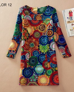 Boho Dress Spring Fashion Flower Print