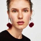Cotton Ball Hot Drop Earrings
