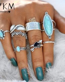 Heart Flower Knuckle Rings Boho