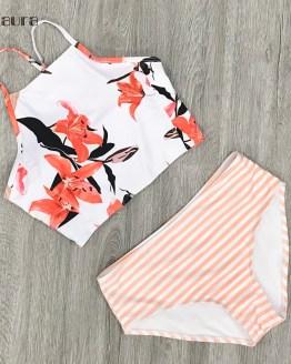 High Neck Bikini Beach Wear SwitchbackPush Up