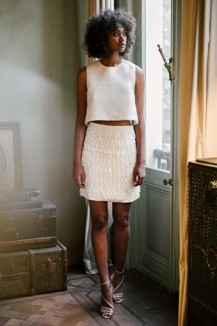 The Ellie top and Anita skirt from the Valentine Avoh bridal collection.