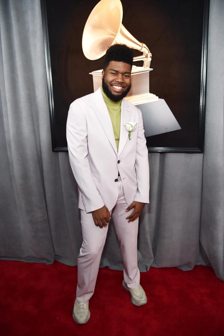 khalid-grammys See All the Red-Carpet Looks From The 2018 Grammy Awards