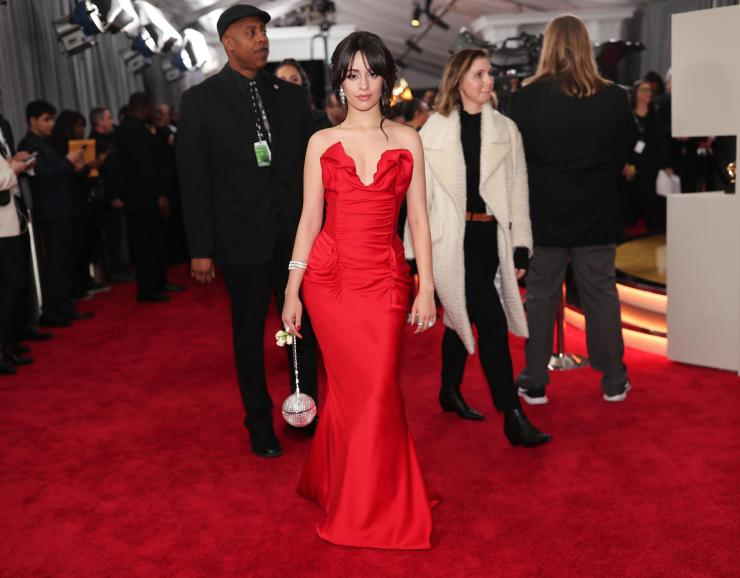 camila-cabello-grammys See All the Red-Carpet Looks From The 2018 Grammy Awards
