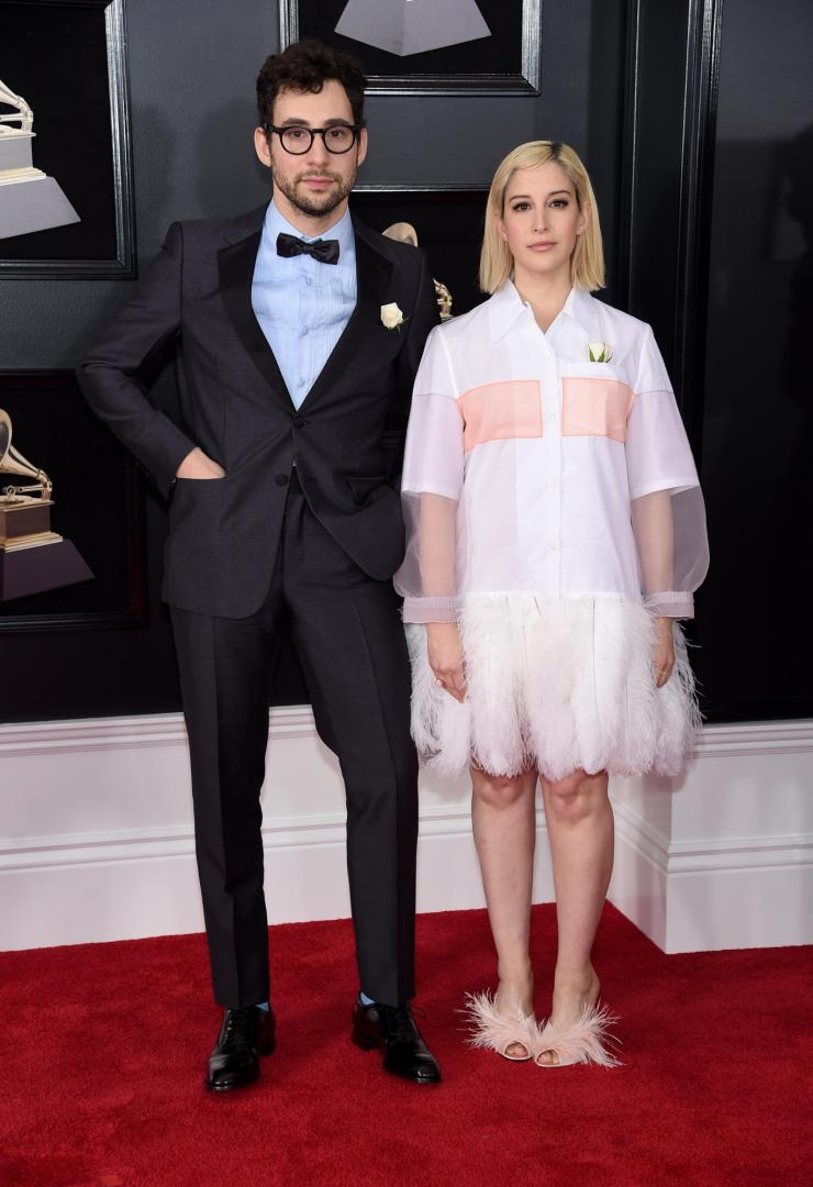 rachel jack antonoff grammys - See All the Red-Carpet Looks From The 2018 Grammy Awards