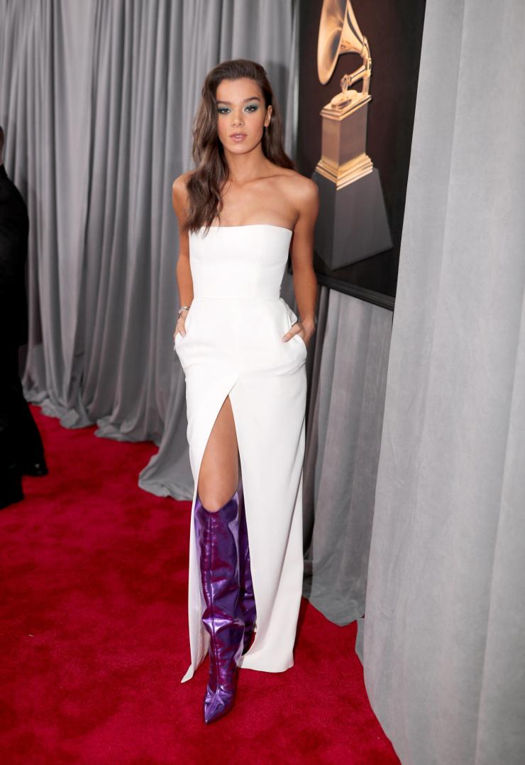 hailee-steinfeld-grammys See All the Red-Carpet Looks From The 2018 Grammy Awards
