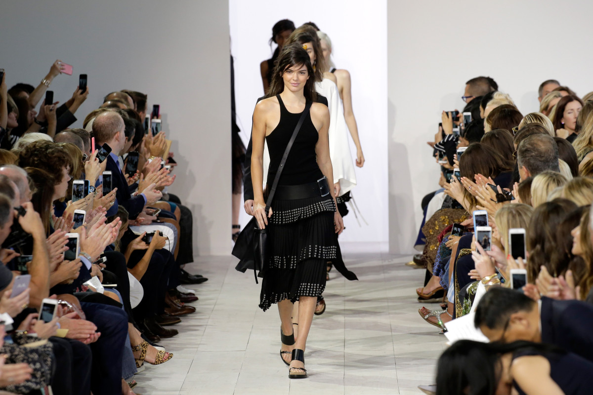New Platform Launchmetrics Can Help Fashion Publicists Track the     Michael Kors spring 2016 runway show  Photo  JP Yim Getty Images