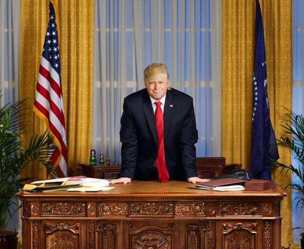 Atamanuik as Trump. Photo: Gavin Bond/Comedy Central