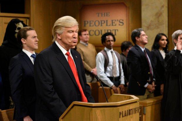 "Troll via patriotic accessory on the February 18, 2017 episode of ""SNL."" Photo: Will Heath/NBC"