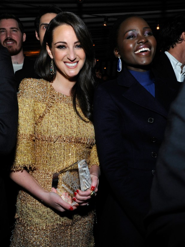 Micaela Erlanger and Lupita Nyong'o. Photo: John Sciulli/Getty Images for Marie Claire