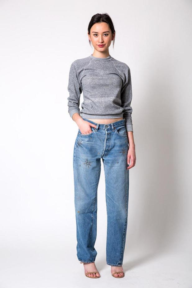 The Vintage Star Stud Selvage Levi 501 Jeans on Denim Refinery. Photo: courtesy