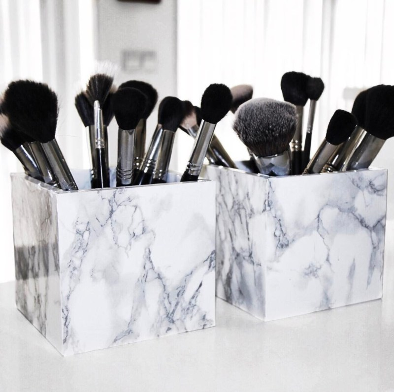 Marble Makeup Organizer Diy Ideas
