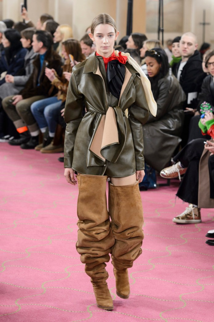 Y/project Uggs at the Fall 2018 runway show in Paris. Photo: Imaxtree
