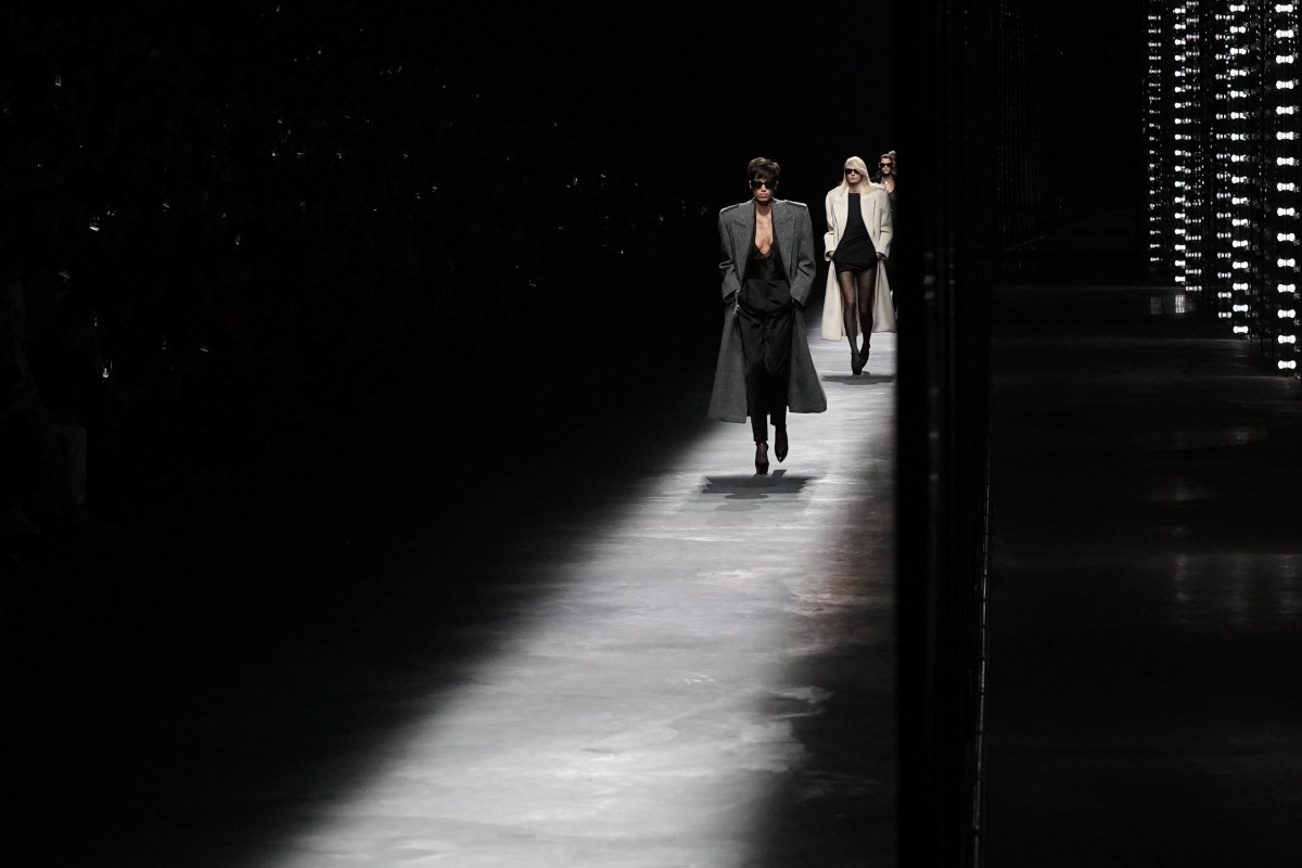 Looks from the Saint Laurent Fall 2019 runway show. Photo: Vittorio Zunino Celotto/Getty Images