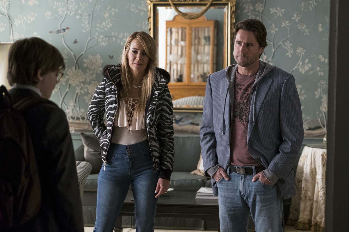 Xandra (Sarah Paulson, middle) and Larry Decker (Luke Wilson). Photo:Macall Polay/Courtesy of Warner Bros. Pictures