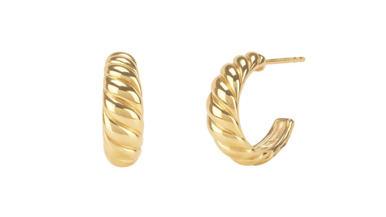 Mejuri Croissant Dôme Earrings, $65, available here.