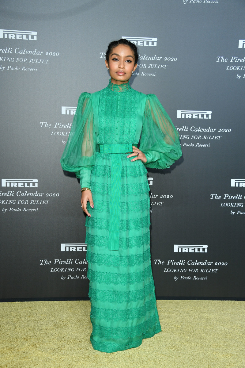"Yara Shahidi at Pirelli's 2020 Calendar ""Looking For Juliet"" Presentation. Photo: Daniele Venturelli/Getty Images"