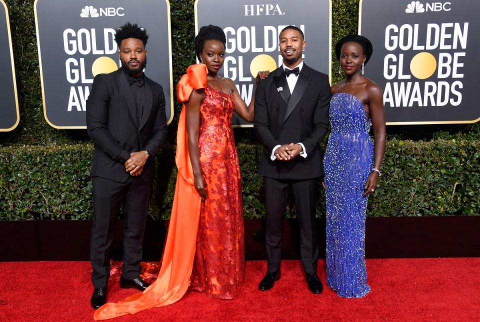 Ryan Coogler, Danai Gurira, Michael B. Jordan e Lupita Nyong'o - Frazer Harrison/Getty Images