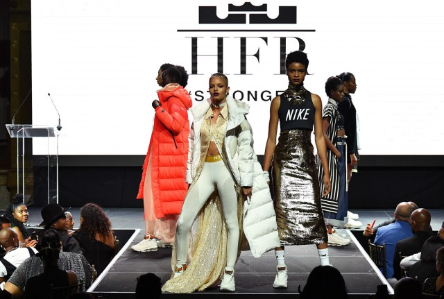 Models on the Harlem's Fashion Row runway during NYFW. Photo: Slaven Vlasic/Getty Images