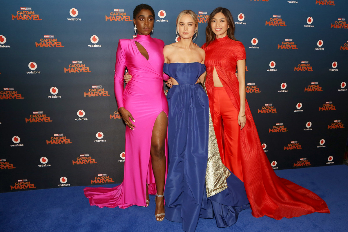 the stars of 'captain marvel' had a collectively major fashion