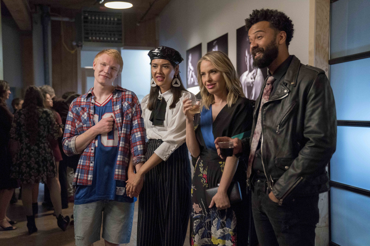 Ruthie (Patti Harrison, second from left) and Amadi (Ian Owens, far right). Photo:Allyson Riggs/Hulu