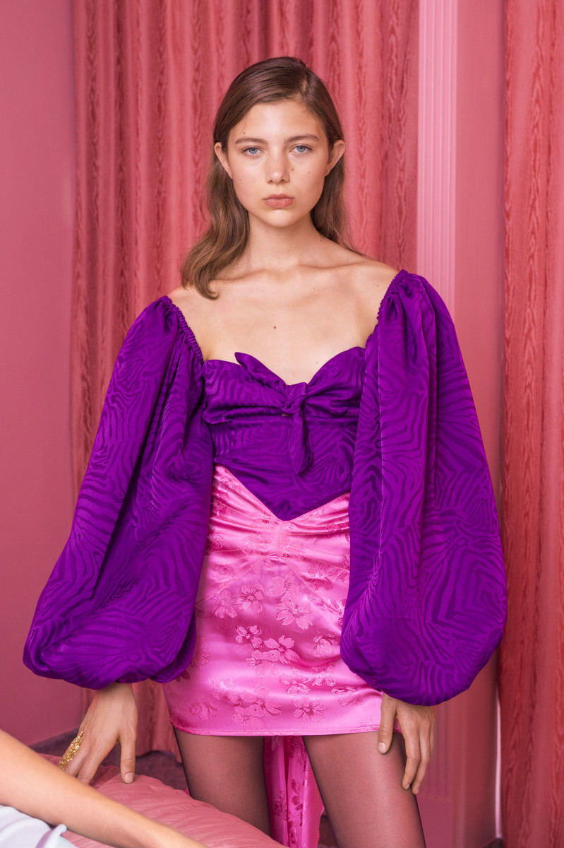 Attico Silk Balloon Sleeve Top, $890, available here. Photo: Imaxtree