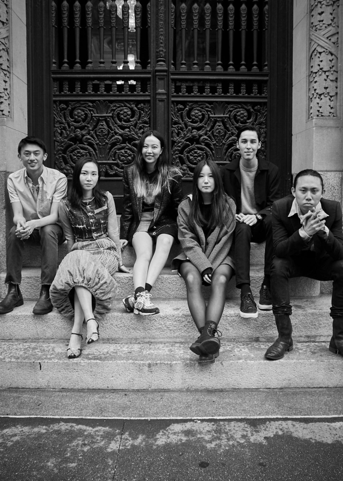 So Jung (Hailey) Kim (fourth from left) with the Joe's Blackbook Foundation scholarship finalists. Photo: Ken Morton/Courtesy of Joe's Blackbook