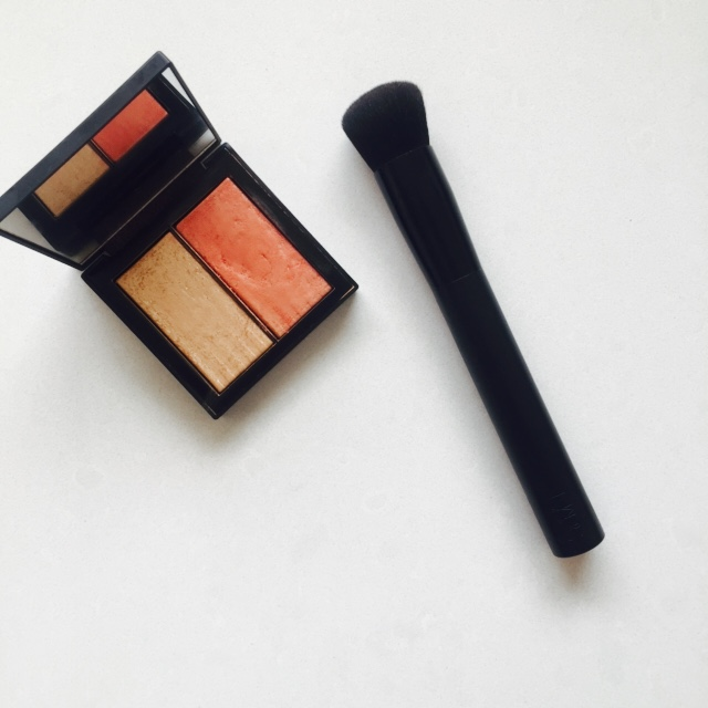 top 5 beauty for July, Nars dual intensity blush in frenzy and brush