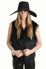 DIGS COUTURE Sleek Goat Hair Vest