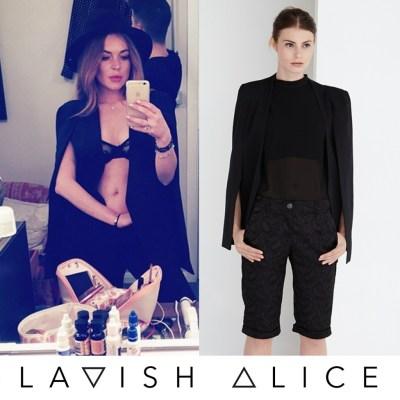 Lindsay Lohan Spotted In Lavish Alice