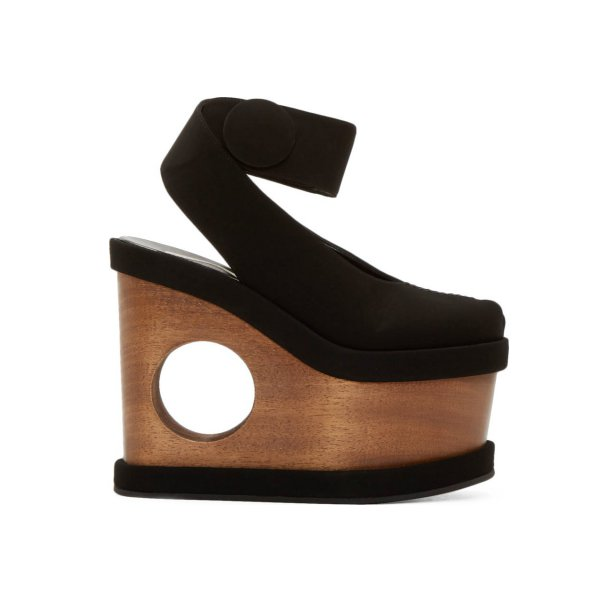 Stella McCartney Cut-Out Platform Sandals