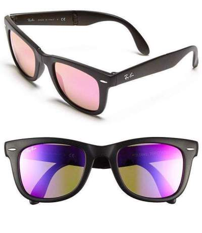 Ray-Ban's New Pink Flash Lenses