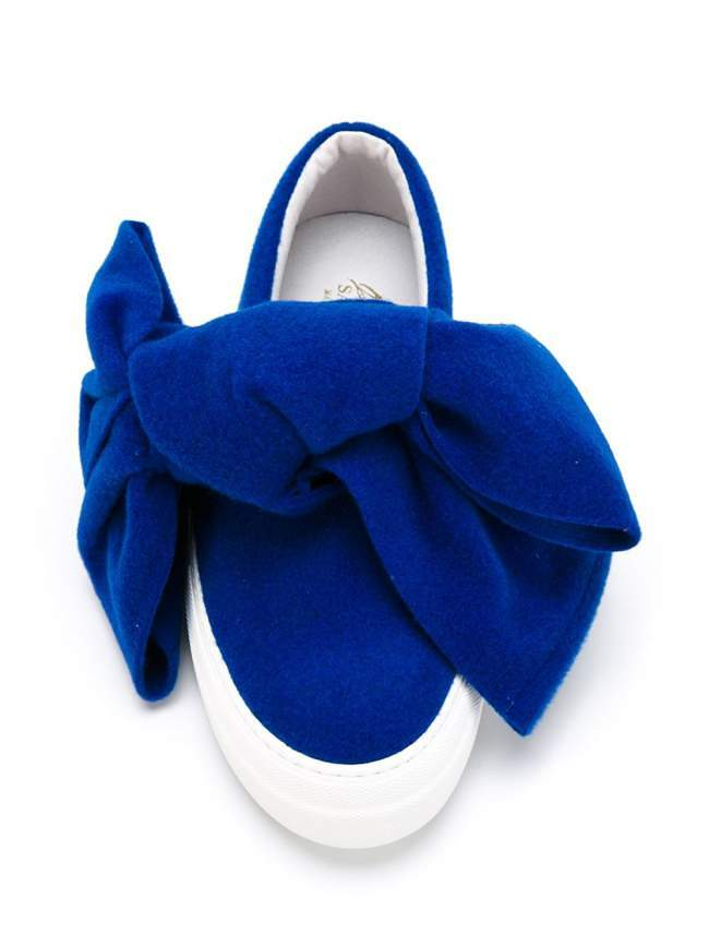 Felt Bow Slip On Sneakers