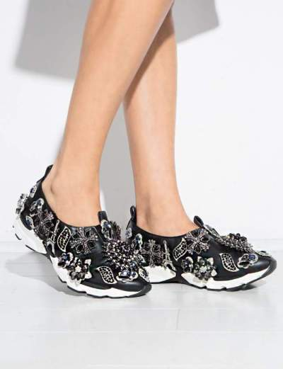 Currently Coveting: Jeffrey Campbell Aleksa Jeweled Slip-On Sneaker