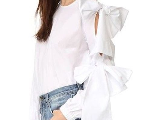 Bow White Blouse