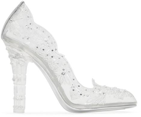 Silver Crystal Cinderella Pumps
