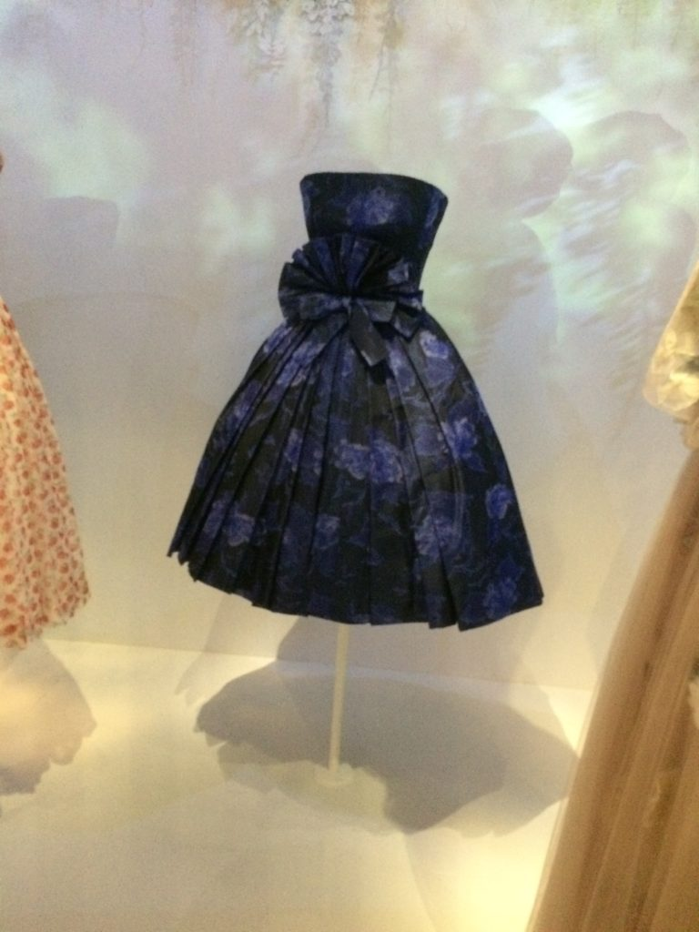 Dior blue rose dress