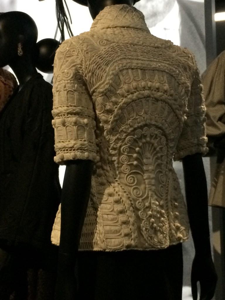 Detail of Dior dress design