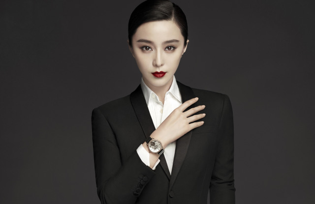 Chinese actress Fan Bingbing models a Montblanc watch