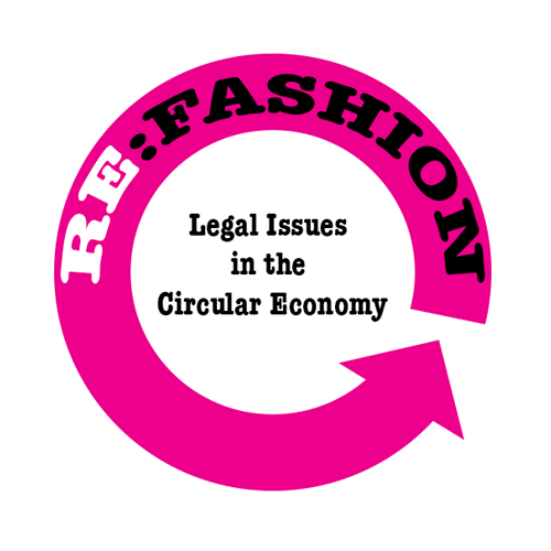 Re:Fashion in pink circle around Legal Issues in the Circular Economy