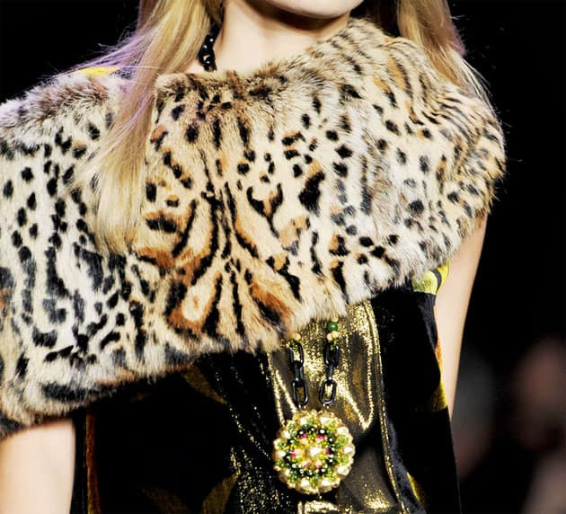 Anna Sui Fall 2011 Tiger Shrug