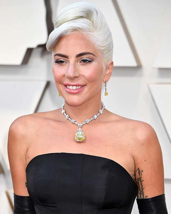 Lady Gaga wears the Tiffany Diamond at Academy Awards 2019