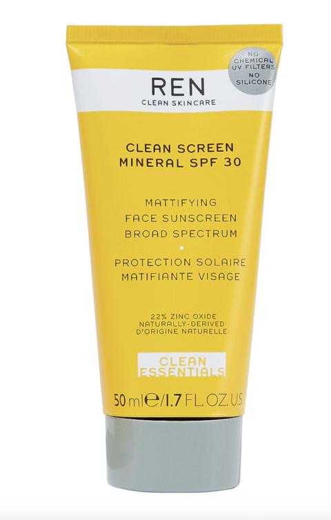 REN Skincare Clean Screen Mineral SPF30: Mattifying Face Sunscreen