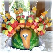 thanksgiving turkey fruit salad