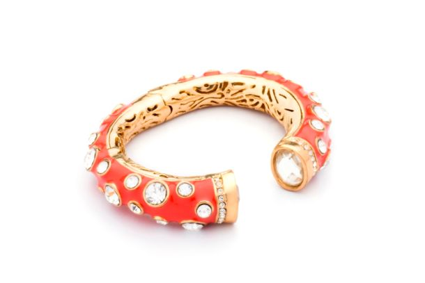 Ash Amaira's ethnic red and gold bracelet