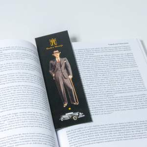 Man and car bookmark
