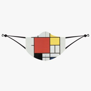 Piet Mondrian, Composition with Red,Yellow, Blue and Black Mask