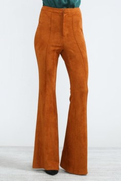 rust colored flare trousers blue labels boutique